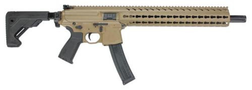 "Sig MPX Carbine 9mm,16"" Barrel, Telescoping Black Stock, Flat Dark Earth Cerakote/Black,, rd,  30 rd"