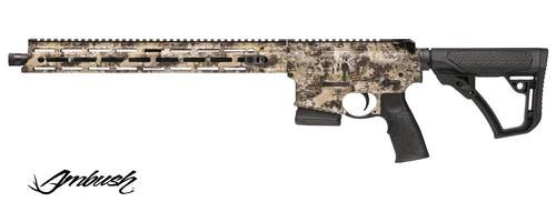 "Daniel Defense DDM4 Ambush .300 Blackout, 16"" Barrel, 6-Position Black Stock, Kryptec Highl55ander,, rd,  5 rd"