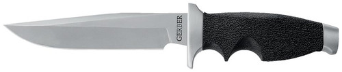 Gerber 01120 Steadfast Fixed Stainless Drop Point Blade Stainless Steel