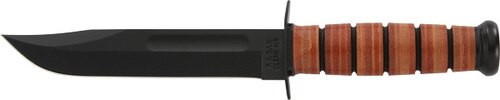 Kabar Army Utility Knife, Straight Edge, Leather Sheath