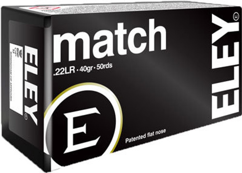 Eley 22LR 40gr, Match, 50rd Box