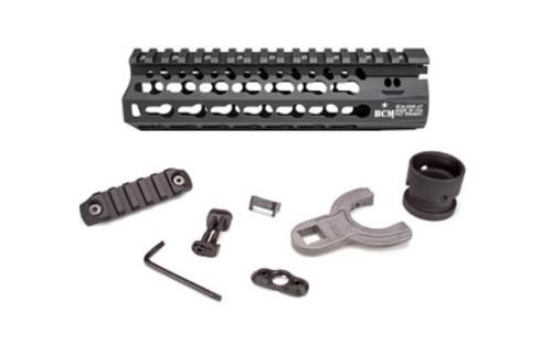 "Bravo Company, Alpha Keymod Rail, Fits AR Rifles, 7"", Aluminum Alloy, Black, Includes BCM KeyMod Sling Mount and a BCMGUNFIGHTER KeyMod Nylon Rail"