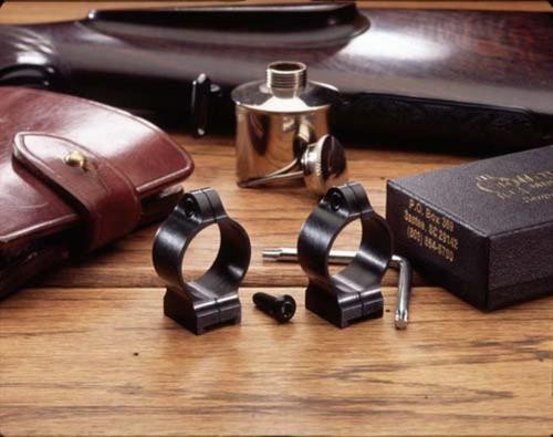 "Talley 1"" High Q.D. Rings, Lever, Black"