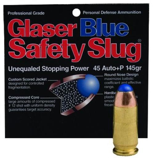Cor-Bon Glaser Safety Slug Blue 45 ACP 145gr, Round Nose, 6 Pack
