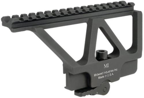 Midwest AK Railed Scope Mount with ADM, 6.75 Rail, Matte Black