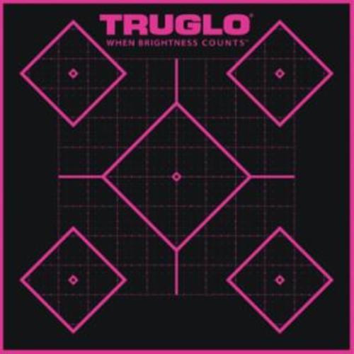 Truglo 6 Pack 5 Diamond TargetsHi-Viz 1/4 Measurments Self-Adhesive Pink