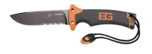 Gerber / BG Bear Grylls Survival Series, Ultimate Fixed Blade Knife, Drop Point, Serrated, Fixed Blade Knives
