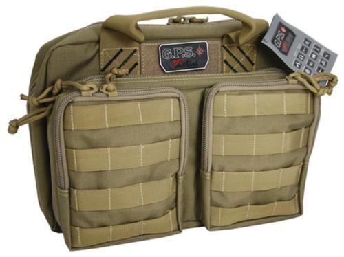 Tactical Quad +2 Pistol Cases Black Tan