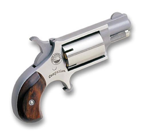"NAA Revolver Single 22 Black Powder Barrel 1.12"" Wood Stock 5"