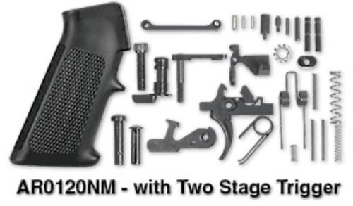 Rock River Arms Lower Receiver Parts Kit, Two Stage Trigger, A2 Grip Black