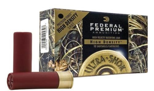 "Federal Ultra-Shok Hi-Density Waterfowl 12 Ga, 3"", 1-3/8oz, 2 Shot, 10rd/Box"