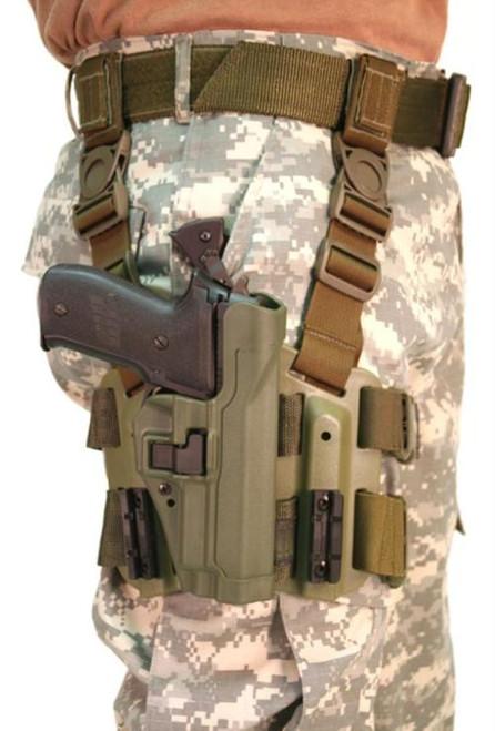 Blackhawk CQC Serpa Tactical Holster, Sig 220/226, Olive Drab, Right Handed