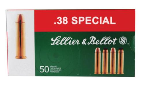 Sellier and Bellot 38 Special 158 FMJ 50Rd/Box