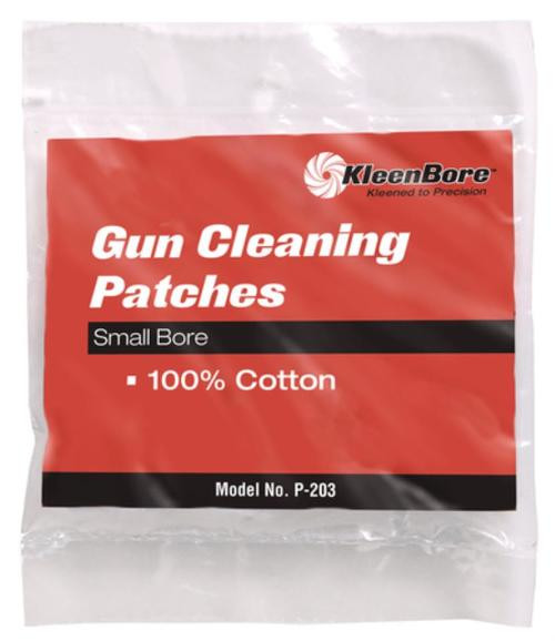 Kleen Bore 100% Cotton Cleaning Patches .28-.35 Caliber, 75/Package
