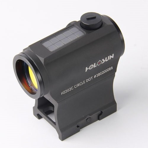 Holosun PARALOW Circle Dot Sight, Black Solar Powered, AR-15 Mount