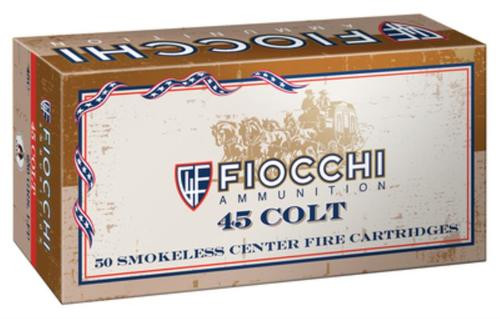 Fiocchi Cowboy Action .45 Long Colt 250gr, Lead Round Nose Flat Point 50rd Box