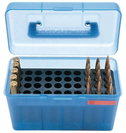 MTM Case Gard H50 Ammunition Box .264 to .458 Winchester Magnum Blue
