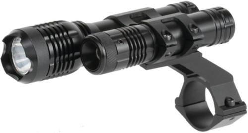 BSA Sporting Optics Red Laser and LED 160 Flashlight Matte Black
