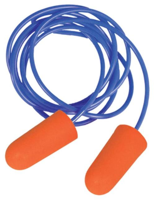 Radians Sporting Goods Disposable Foam Earplugs Orange 3 Pair Corded Blister-Packed