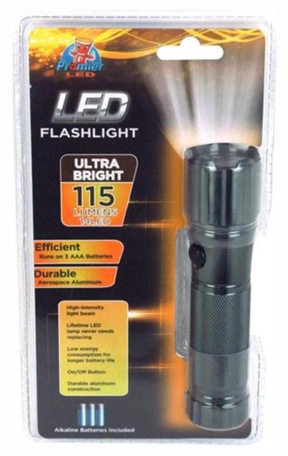 "Promier LED Flashlight, 14 LEDs, Aluminum Tube, 115 Lumens, 5"" OAL"