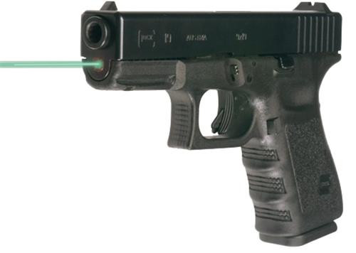 "LaserMax Guide Rod Green Laser For Glock 19 Gen4 4"" Black"
