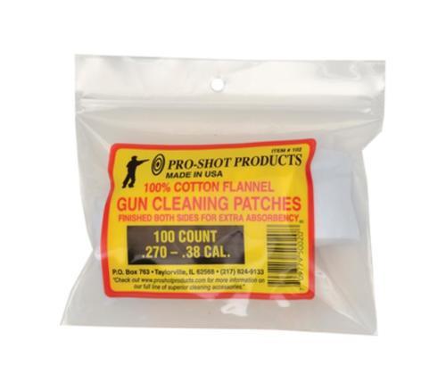 "Pro-Shot Cotton Flannel Patches .270-.38 Caliber 2"" Round, 100/Bag"