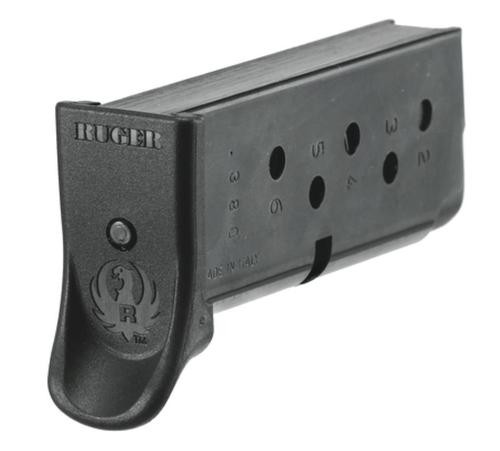 Ruger LCP Magazine, Finger Rest, 6 Shot Blue Steel