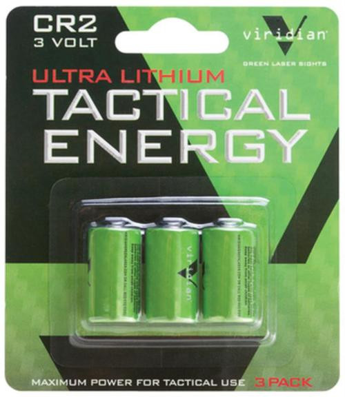 Viridian Tactical Energy Ultra Lithium CR2 Batteries, 3-Pack