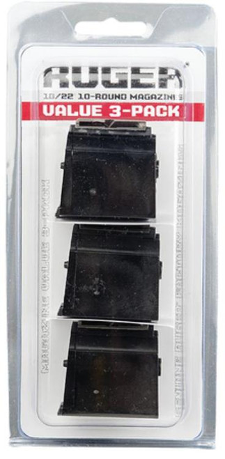 Ruger 10/22 Magazine BX-1 3-Pack 22LR, 10rd x 3 Mag Package