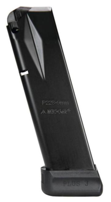 Mec-Gar Magazine Sig Sauer P228 9mm, Extended Anti Friction Coat, 18rd
