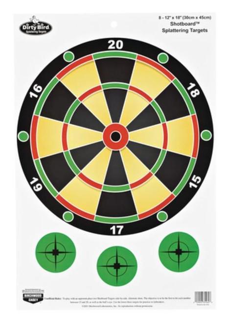 "Birchwood Casey Dirty Bird Shotboard Targets 12x18"", 8/Package"