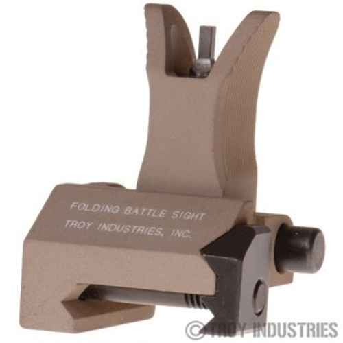 Troy BattleSight Front Tritium Folding, Flat Dark Earth