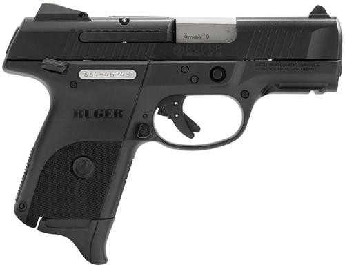 "Ruger SR9C Compact 9mm 3.5"" Barrel Ambi Safety, Rail 1- 17rd Mag & 1- 10rd Mag"