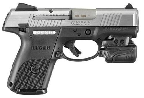 Ruger SR9C Compact 9MM Crimson Trace Weapon Light, 1 10 and 1 17 Rnd Mag