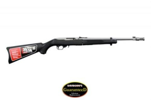 "Ruger 10/22 Takedown .22LR, 16.25"", Threaded, Stainless, 10rd, Black Synthetic Stock"