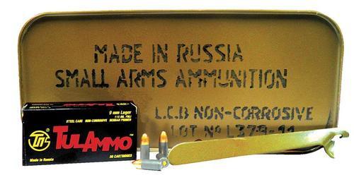Tulammo 9mm Full Metal Jacket 115 gr, Steel Case, 900rd/Box