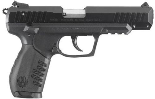 """Ruger SR22 Pistol, 22LR, 4.5"""", Black, Polymer Frame, 10rd"""