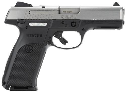 """Ruger SR40 Pistol, 40SW, Stainless Slide, 4.1"""" Barrel, 10RD Mag"""
