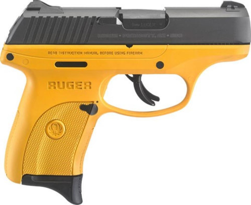 "Ruger LC9s 9mm 3.5"" Barrel Contractor Yellow Cerakote Frame 7rd Mag"