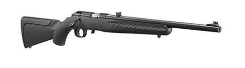 """Ruger American Rifle Rimfire .22LR 18"""" Synthetic, Red Fiber Optic Sight"""