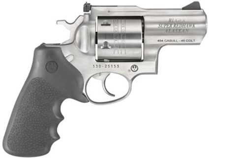 "Ruger Super Redhawk Alaskan .454 Casull, 2.5"" Barrel, Black Rubber Grips, Stainless Steel, 6rd"