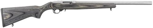 "Ruger Model 10/22 Target .22LR 20"" Heavy Barrel Polished Stainless Steel Finish Black Laminate Stock 10 Rnd Mag"