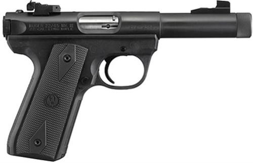 Ruger 22/45, Threaded Barrel, Adjustable Sights Blued