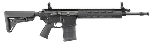 "Ruger SR-762 AR10 .308/7.62 16"" Fluted Barrel, 6 Position Telescoping Stock, Hardcoat Finish, 20rd Mag"