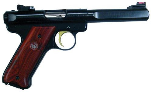 Ruger Mark III Deluxe 22LR Cocobola Grips LTD Edition