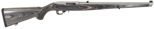 """Ruger 10/22 Black Laminate Mannlicher 22LR 18.5"""" SS Barrel Full Stock, 10rd Mag"""