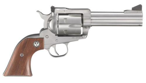 """Ruger Blackhawk 357 Magnum/38 Spl 4-5/8"""" Barrel SS 6rd Hardwood Grip"""