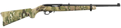 Ruger 10/22 Semi Auto Rifle, 22LR Blued W/ MultiCam Finish