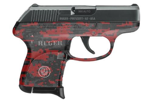 """Ruger LCP .380 ACP, Red Digital Camo Frame, 2.75"""",, ,  6 rd"""