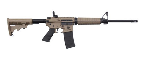 "Ruger AR-556 Rifle, .223/5.56, 16"", 30rd, Dark Earth"